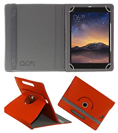 Acm Rotating 360 Leather Flip Case Compatible with Xiaomi Mipad 2 Cover Stand Orange Tablet Accessories