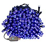 Indoor/Outdoor String Lights with 8 Flash Changing Modes USB Power 39ft 100LED Wire lights Waterproof Fairy Twinkle Decorative Lights for Party/Christmas/Patio/Home (Blue Include Power Adapter)