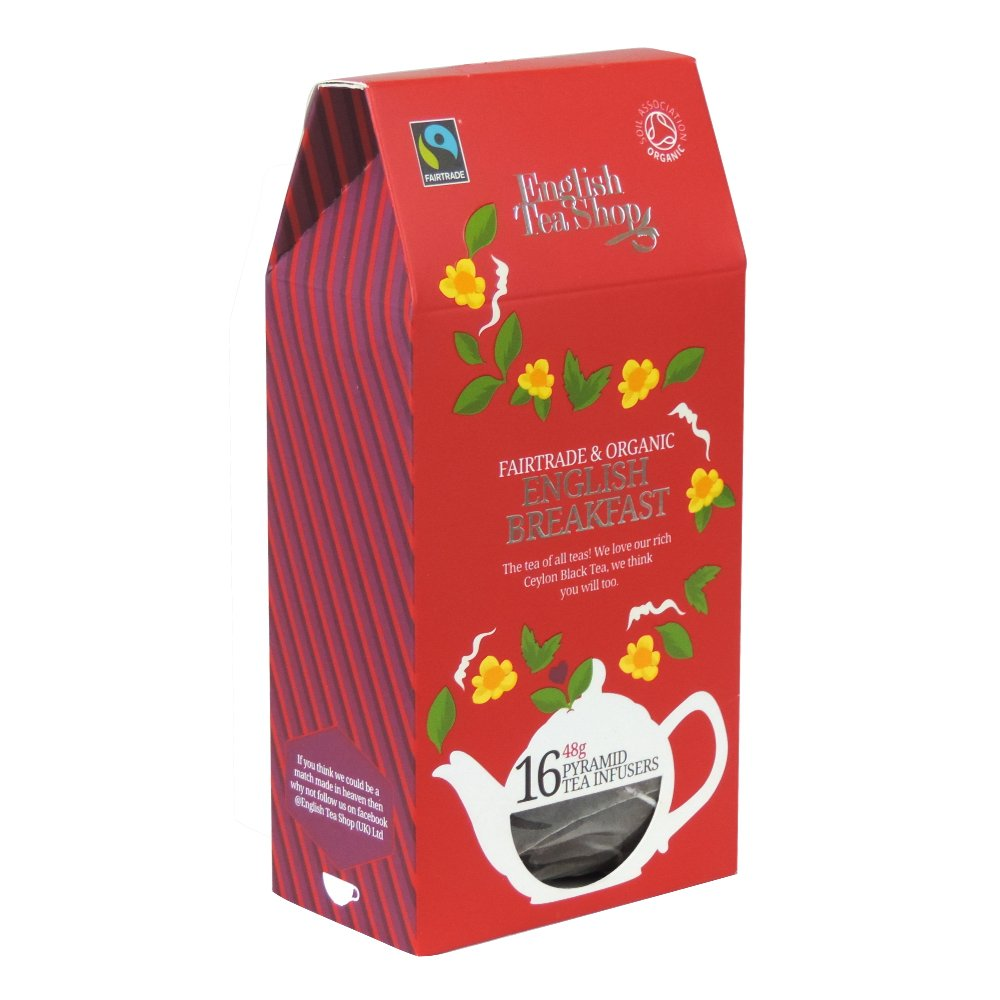 English Tea Shop - English Breakfast - 16 Pyramid Tea Infusers - 48g (Case of 6)