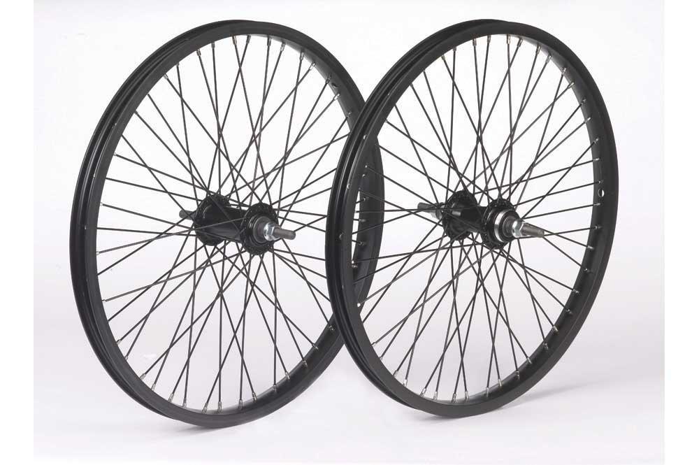 Bike Front Hub 36 Spoke Nutted  Black 3//8 in Axle