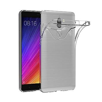 AICEK Funda Xiaomi Mi 5S Plus, Xiaomi Mi 5S Plus Funda Transparente Gel Silicona Xiaomi Mi 5S Plus Premium Carcasa para Xiaomi Mi 5S Plus