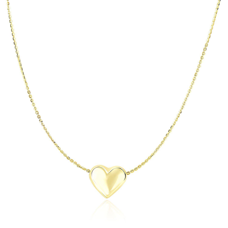 Bonyak Jewelry Sterling Silver Rhodium Plated Polished Key /& Puffed Heart Charm