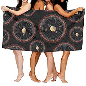 Solar System Galaxy Space 100% Cotton Luxury Bath Towel Absorbent Soft Towels