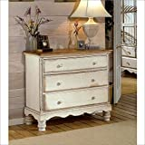 "Hillsdale Furniture 1172-772 Wilshire 42.25"" Bedside Chest with 3 Drawers Tongue and Groove Drawer Bottoms and Solid Pine Wood Construction in Antique"