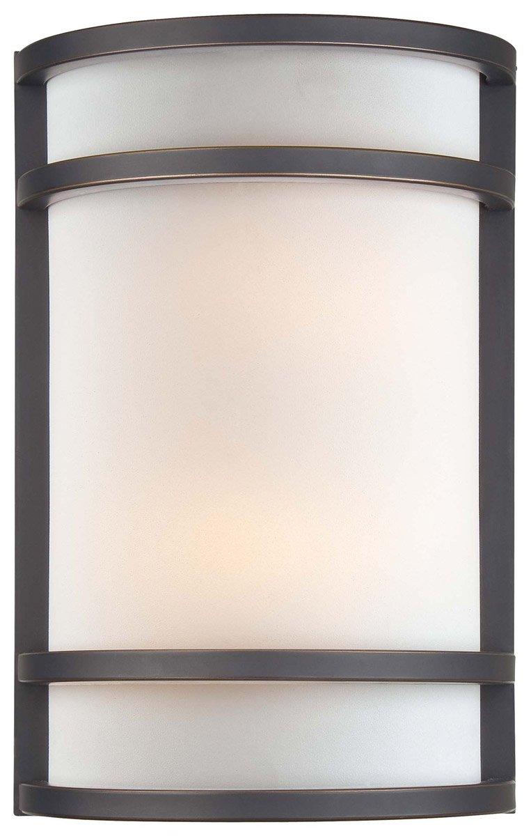 Minka Lavery Wall Sconce Lighting 345-37B, Glass Damp Bath Vanity Fixture, 2 Light, 120 Watts, Bronze