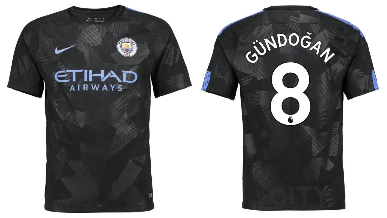 Trikot Kinder Manchester City 2017-2018 Third - Gündogan 8