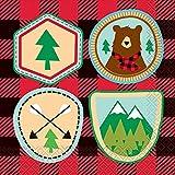 Unique 58392 Buffalo Plaid Lumberjack Birthday Party Napkins, 16 Count