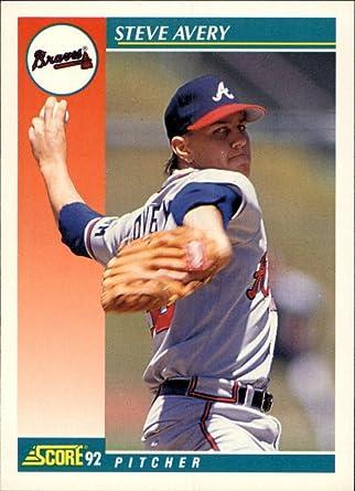 Amazon Com 1992 Score Baseball Card 241 Steve Avery Collectibles Fine Art