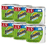 Image of Bounty Quick-Size Paper Towels, 12 Family Rolls, White