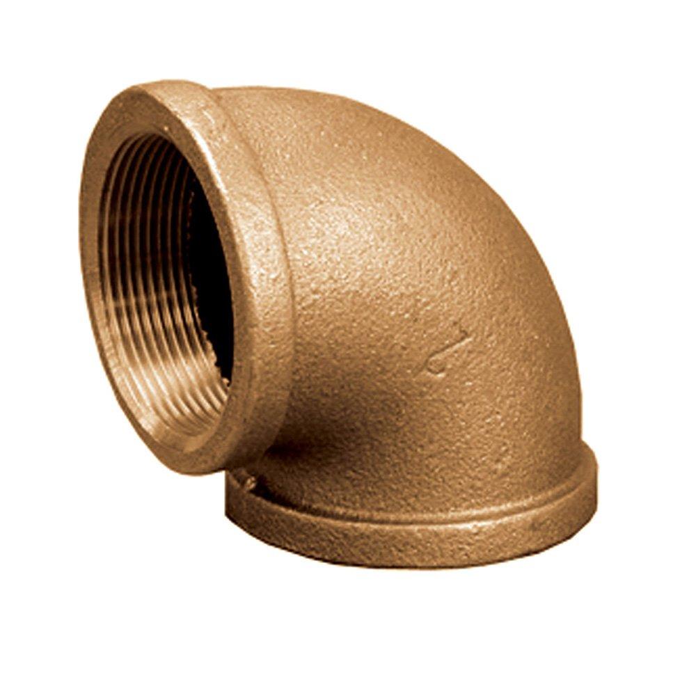Jones Stephens Corp - 1/2 Bronze 90 Elbow (Lead Free)