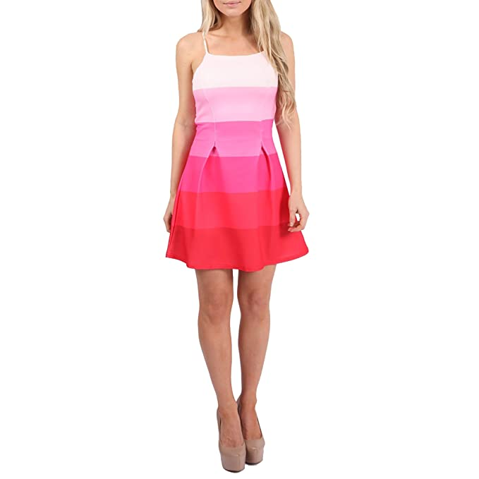 Simply Chic Outlet - Vestido - Sin mangas - para mujer Rosa - Pink / Weiß