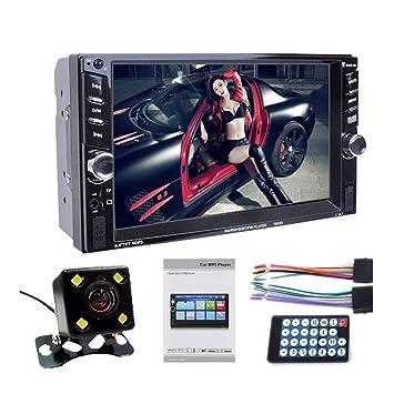 VIGORFLYRUN PARTS LTD 2DIN Car Radio 6.6 Pulgadas HD Player MP4 57652D Bluetooth Touch Pantalla Digital Display Multimedia USB Cámara Trasera: Amazon.es: ...