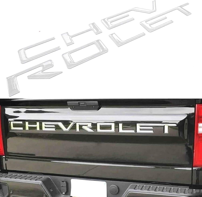 KENPENRI Tailgate Insert Letters for 2019 2020 Chevrolet Silverado Black American Flag 3M Adhesive /& 3D Raised/Tailgate Letters