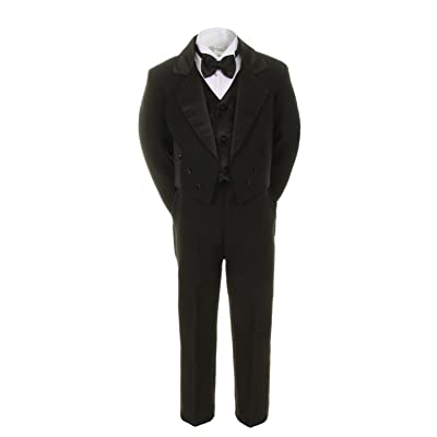 Unotux Boys Suits Black Bow Tie Vest Sets Tail Outfit Tuxedos Baby Toddler Teens