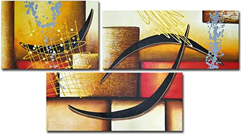 3 Pics Modern Abstract 100 Hand Painted Oil Paintings Artwork on Canvas Wall Art Deco Home Decorations