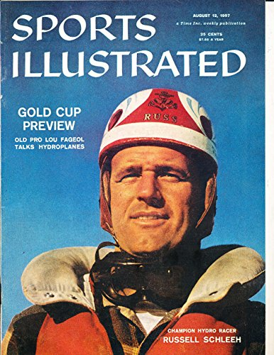Aug 12 1957 Gold Cup Hydro Racer Russell Schleeh no label Sports Illustrated SI60-61