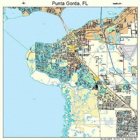 Map Of Punta Gorda Florida.Amazon Com Large Street Road Map Of Punta Gorda Florida Fl