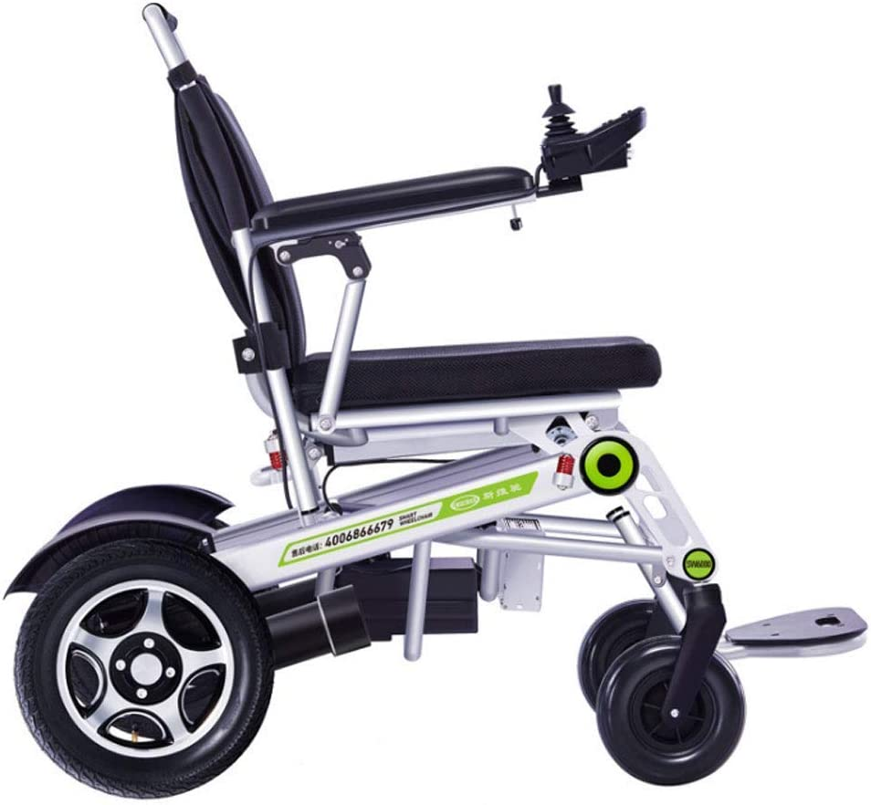 FTFTO Inicio Accesorios Ancianos Discapacitados Silla de Ruedas eléctrica Batería de Litio Inteligente automática Ancianos Discapacitados Scooter Aleación de Aluminio Silla de Ruedas Plegable Ligera