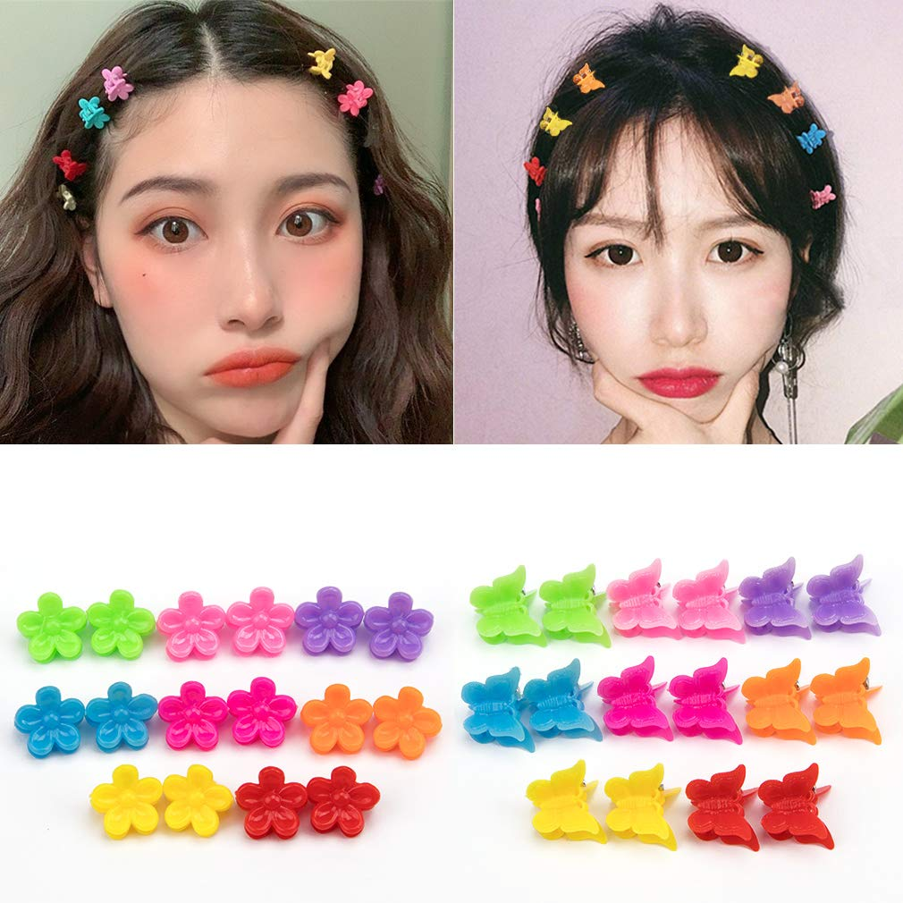 spring hair clips for girls 2 pcs Butterfly hair clip for toddlers