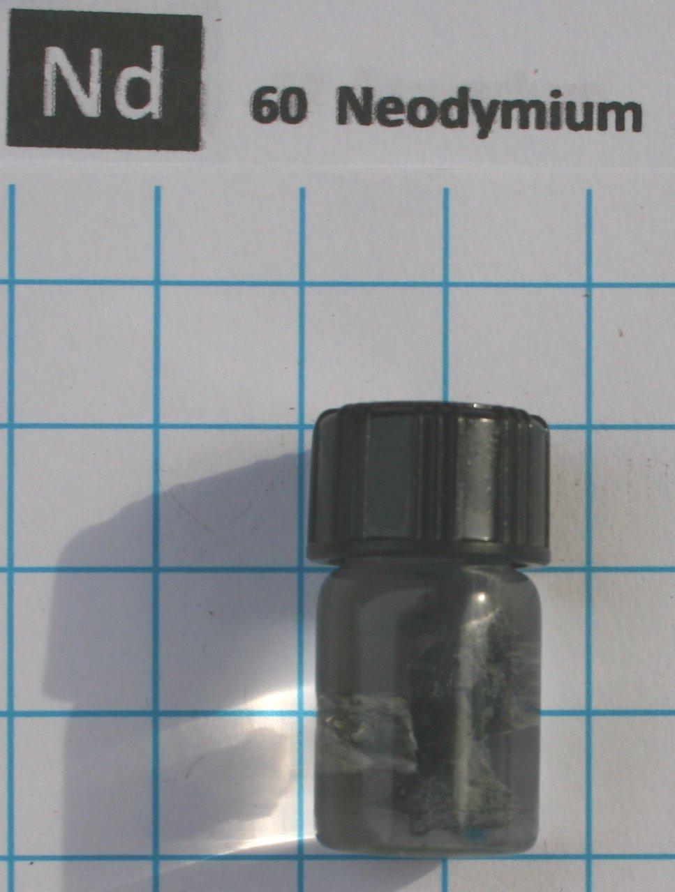 1 Gram 99.3% Neodymium Metal Pieces Under Mineral Oil In Glass Vial Element 60 Sample
