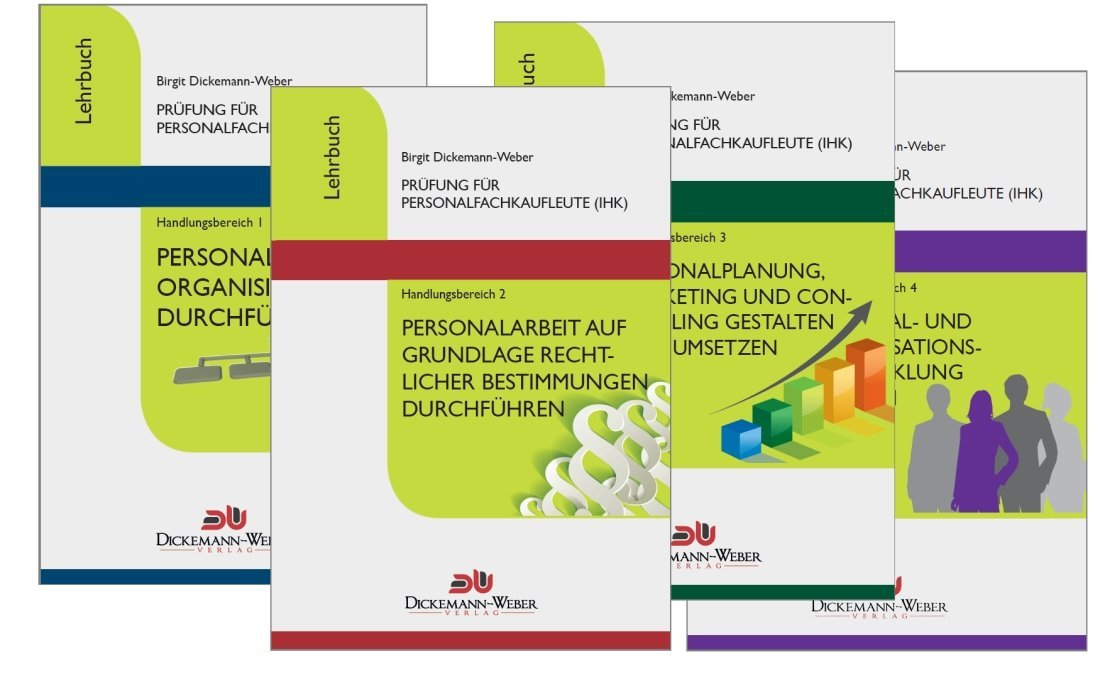 Personalfachkaufleute - Lehrbuch Komplettpaket Handlungsbereich 1 - 4: Prüfung für