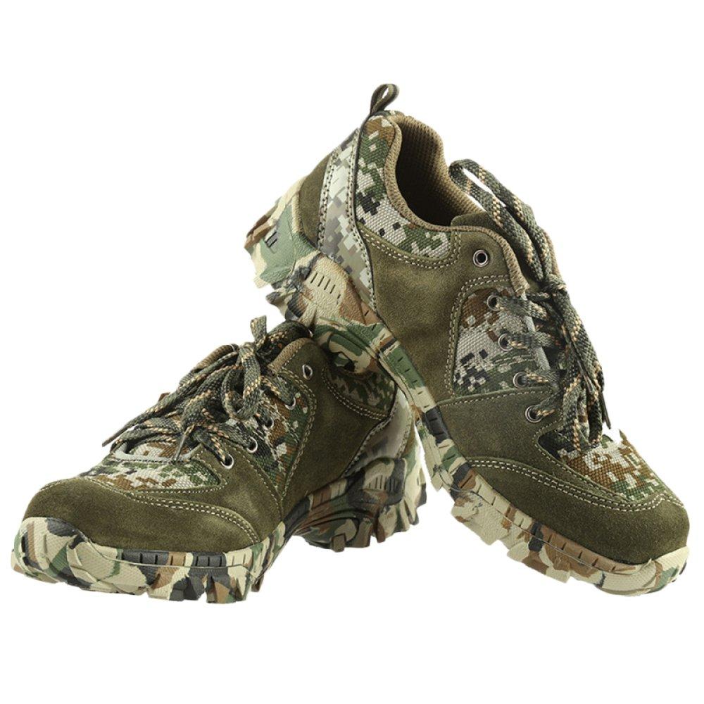 Nihiug Wanderschuhe Herren Wasserdicht Wanderschuhe Leder Trekking Camouflage Low Low Low Cross Country 3b43d3