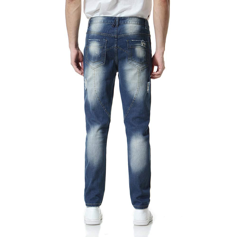 Pantalones para Hombre, Hombres Casual Otoño Denim Algodón Retro ...
