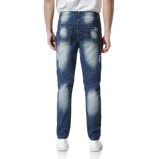 Modische Herren Jeanshose Vintage Destroyed Look Cargohose Slim Fit Hosen Jeans Denim Washed 15,90 Euro