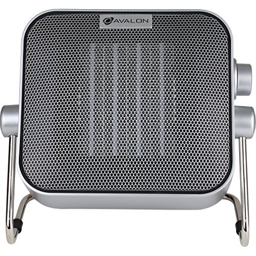 Avalon Premium Ceramic Heater with Two Heat Settings, Silver