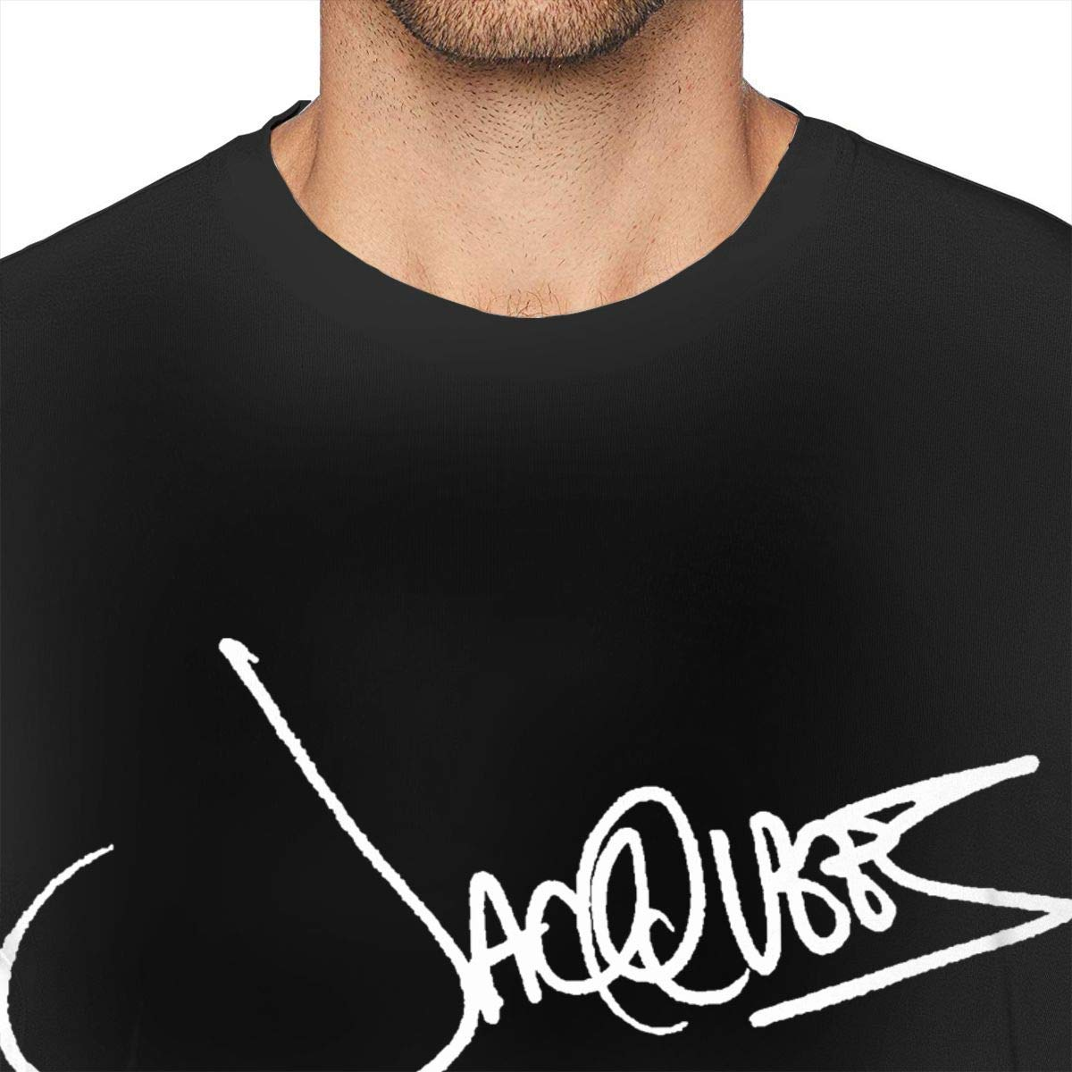 Kjods Jacquees Mens Shirt Fashion Short Sleeve Black
