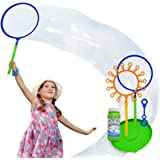 OleOletOy Giant Bubble Wand Set: Big Bubble Maker Toy for Kids and Adults, Fun Outdoor and Indoor Activity for Girls, Boys, T