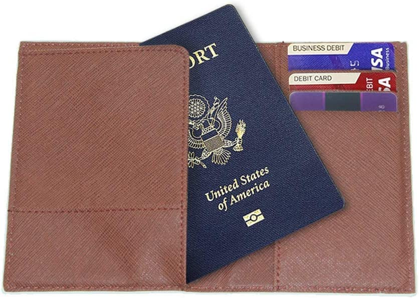 RFID Blocking Safe Wallet for Men Women Abstract Tie Dye Travel Passport Covers Holder Case Protector