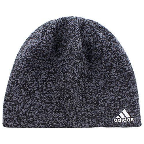 adidas Men's Paramount Beanie, Black/Deepest Space/Scarlet, One Size -