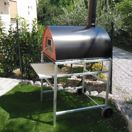 "Large outdoor wood fired pizza oven mobile ""Pizzone"" 4 pizzas made in Italy Pizza Party (All taxes included)"