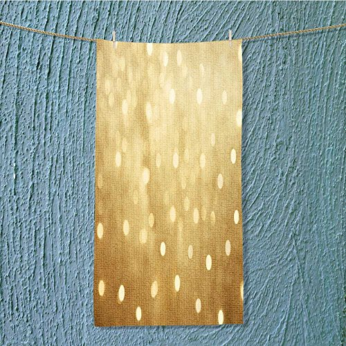 AmaPark camping microfiber towel golden beautiful blurred bokeh background with copy space holiday texture wallpaper for Maximum Softness W35.4 x H11.8 INCH (Holiday Washcloth)