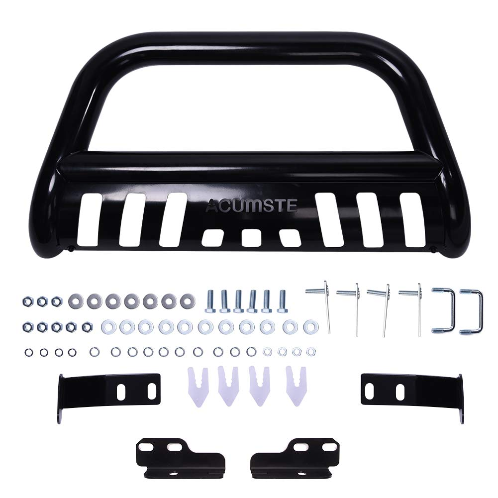 ACUMSTE Front Bumper Bull Bar Grille Guard with Skid Plate Fit for 04-18 Ford F150