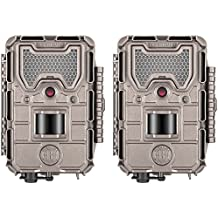 Bushnell 20MP Trophy Cam Low Glow Trail Camera, HD Aggressor, Tan, Records 1080p Video with Audio (2-Pack)