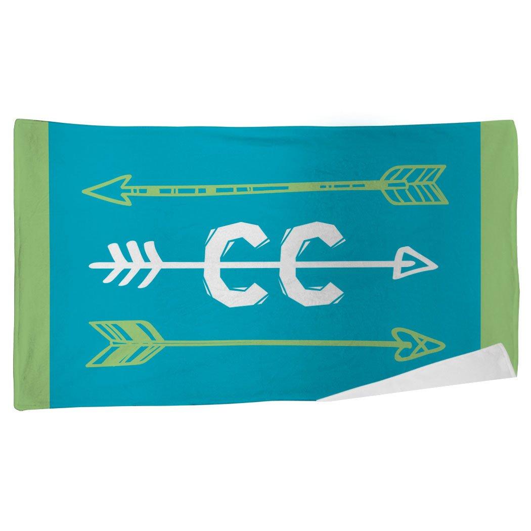 ChalkTalkSPORTS Cross Country Beach Towel   Arrows   Microfiber Towel   Teal
