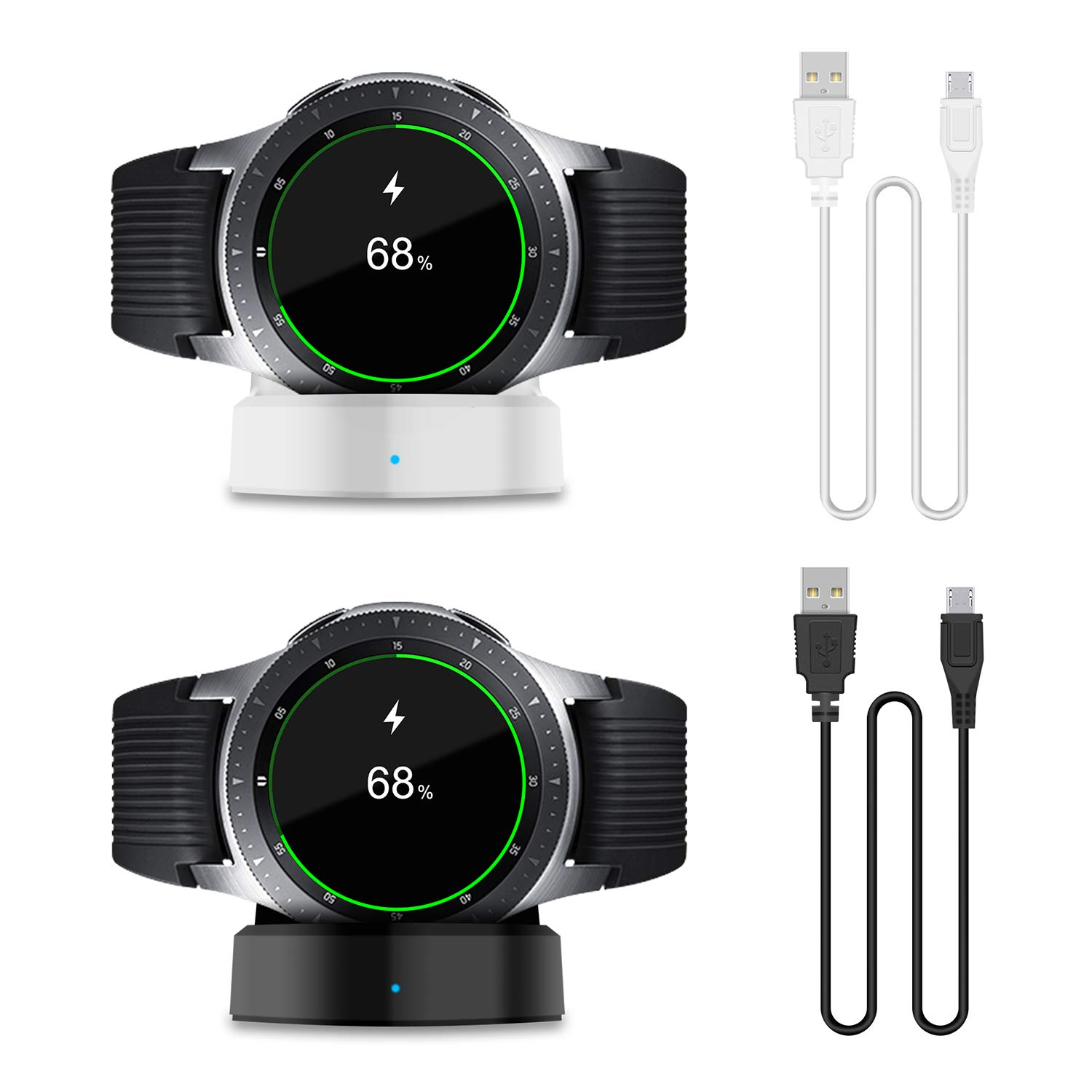 [2 Pack] Charger Compatible with New Samsung Galaxy Smart Watch 2018 42mm 46mm,Replacement Charging Dock Cradle for Samsung Galaxy Smart Watch SM-R800 ...