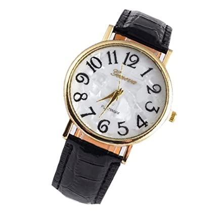 Amazon.com: 2016 Special Women Dress Watches Big Number Round Dial Fashion Quartz Watch Exaggerated Large Numbers Ladies Wristwatch Black: Watches