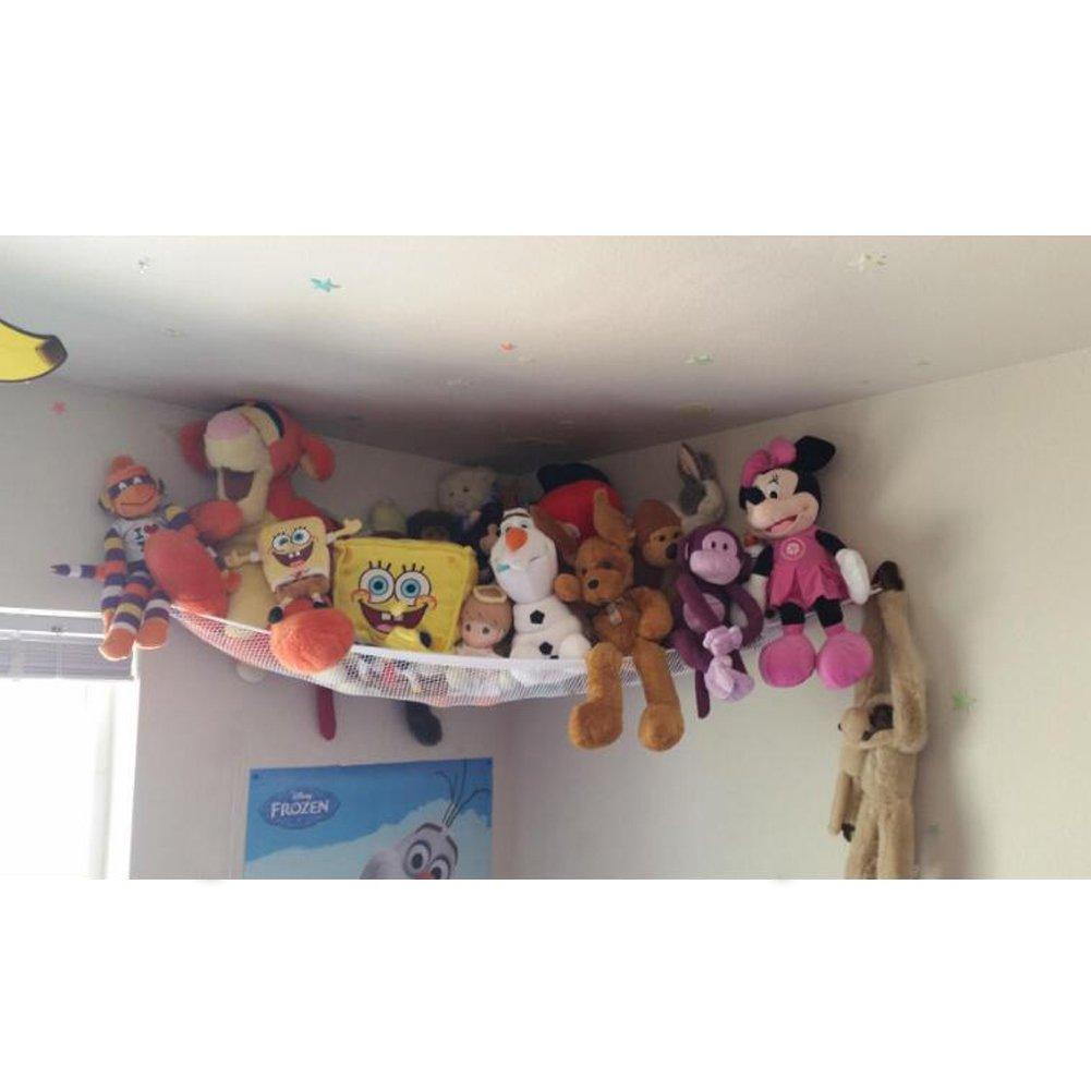 Huijukon Jumbo Toy Hammock Storage Net Organizer for Soft Stuffed Animals, Nursery Play, Teddies(55 x 43 x 43 inches)