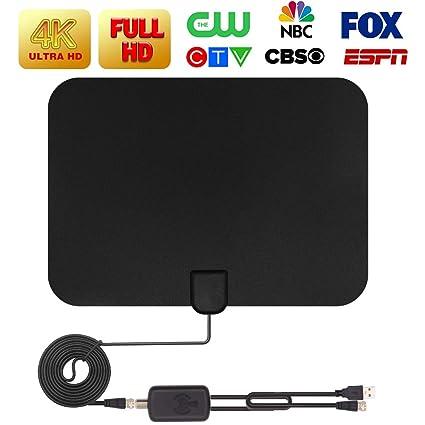 2019 Latest Amplified HD Digital TV Antenna Long 65-80 Miles Range Support 4K