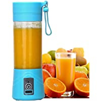 ShoppoVis Mini Portable USB Mixer Grinder Blender for Fruit and Vegetable Juicer 380 ml Bottle for Shakes and Smoothies-(Multi Color)