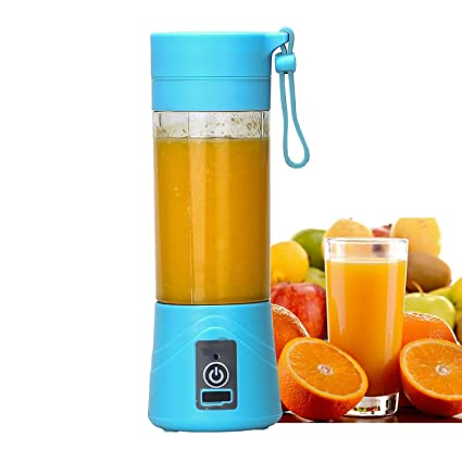 Unique One Portable USB Juicer Blender 380ml Bottle with Rechargeable Power Bank & USB Cable