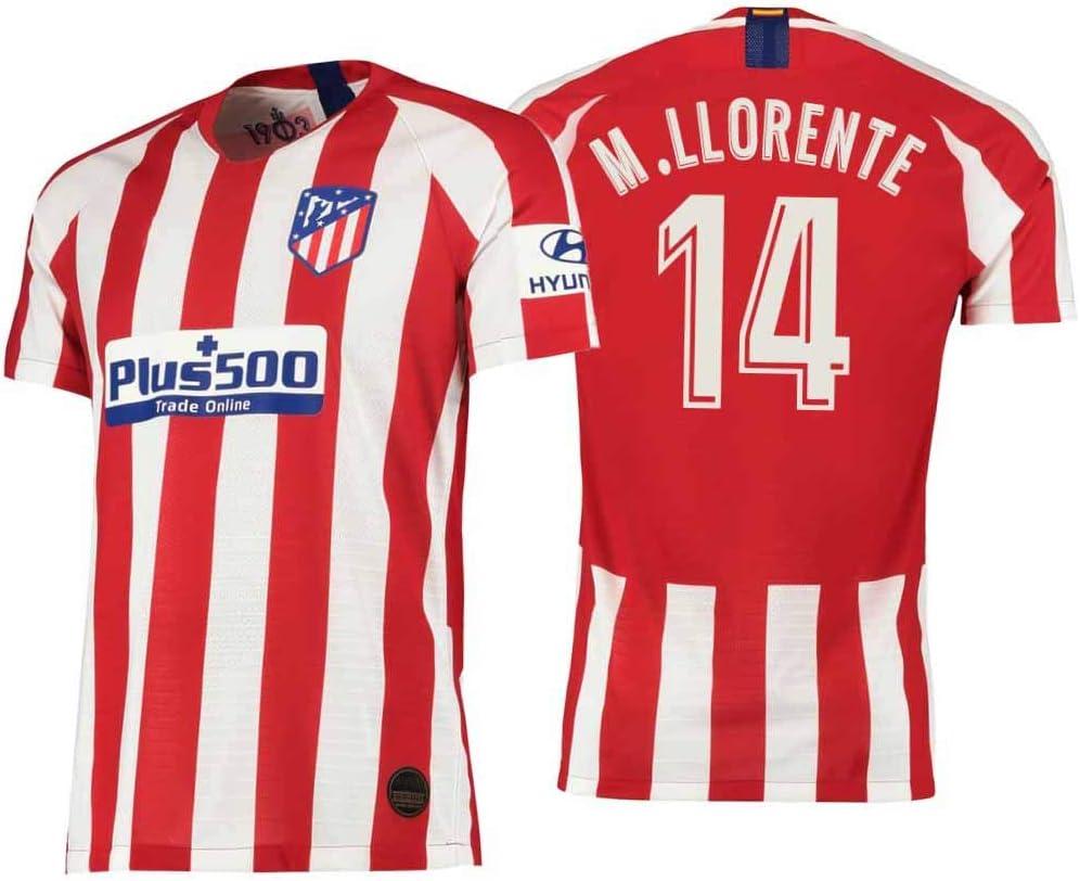 S&K Sports Camiseta Marcos llorente Atletico de Madrid Rojo,Camiseta Marcos llorente 2019/20 para Hombre & Niño(Rojo,M): Amazon.es: Deportes y aire libre