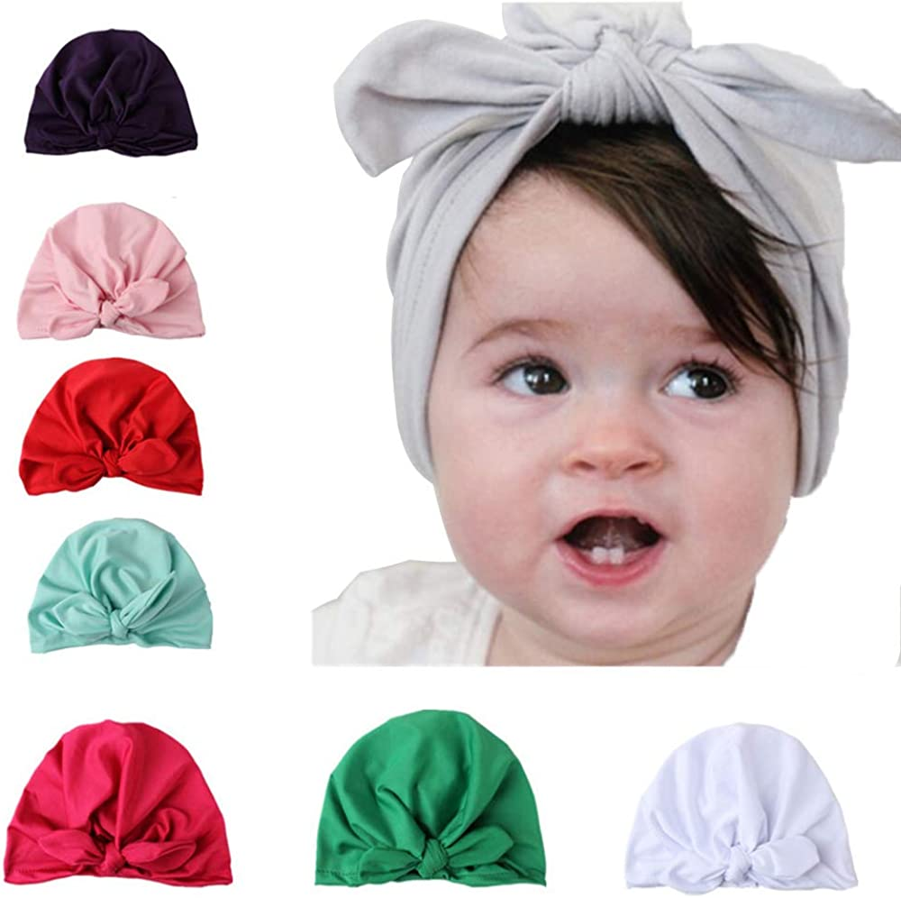 Hat Bow Knot Newborn Turban Children Headwear Knot Headwraps Beanie Baby Cap