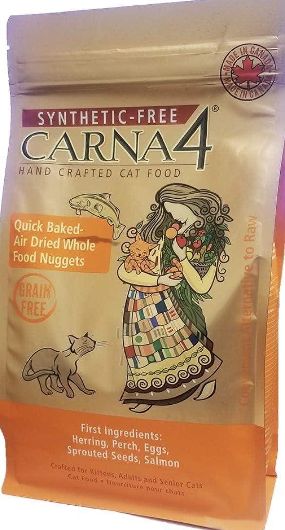 CARNA4 Grain Free Cat Food, Fish Formula (Herring, Perch, Salmon) (4lb)