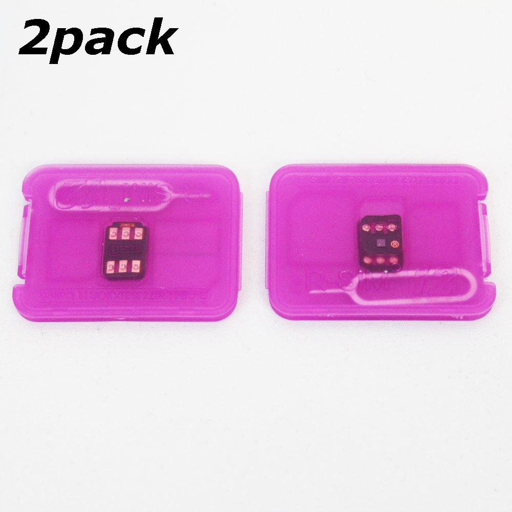 WADJET 2pack RSIM 12 Newest 2018 R-SIM Nano Unlock Card, R-SIM 12 Smart 4G Card Unlock Card Adapter Converter Kits with Tools For IPhoneX 8P 8 7P 7 6SP 6P 6S 6 5C 5S 5 by WADJET (Image #1)
