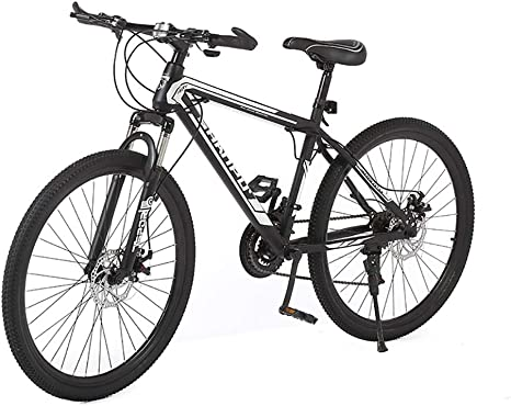 PLLXY Adulto Bicicleta De Montaña 26 En,Completo Suspensión Bicicleta Plegable Cambio De 7 Velocidades,Ligero Frenos De Doble Disco Bicicleta De Montaña A 26in ...