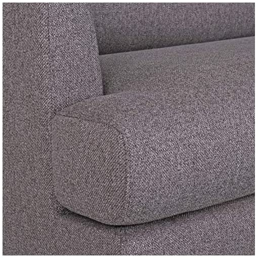 Living Room Amazon Brand – Rivet Canton Deep Mid-Century Modern Loveseat Sofa Couch, 76.7″W, Dark Grey modern sofas and couches